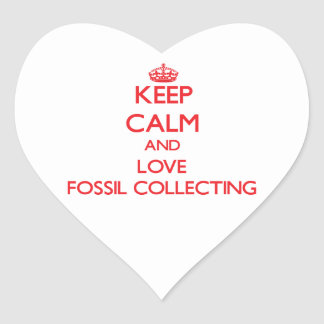Keep calm and love Fossil Collecting Heart Sticker