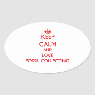Keep calm and love Fossil Collecting Stickers