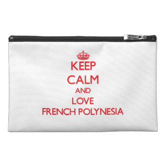 Keep Calm and Love French Polynesia Travel Accessories Bag