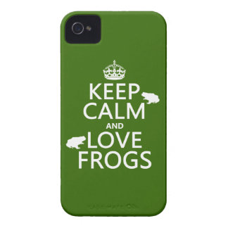 Keep Calm and Love Frogs (any background color) Case-Mate iPhone 4 Case