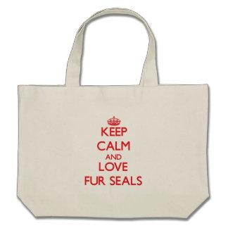 Keep calm and love Fur Seals Bag