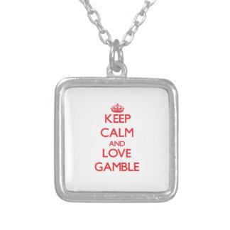 Keep calm and love Gamble Pendants