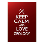 Keep Calm and Love Geology Poster