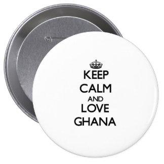Keep Calm and Love Ghana Buttons