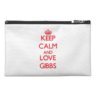 Keep calm and love Gibbs Travel Accessory Bags