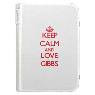 Keep calm and love Gibbs Kindle 3 Cover
