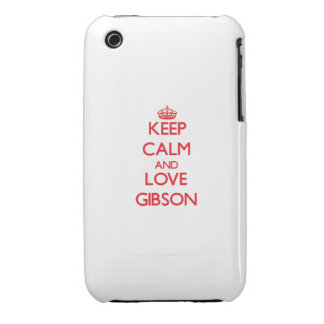 Keep calm and love Gibson Case-Mate iPhone 3 Case