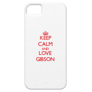 Keep calm and love Gibson iPhone 5 Case