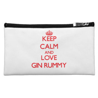 Keep calm and love Gin Rummy Cosmetic Bags