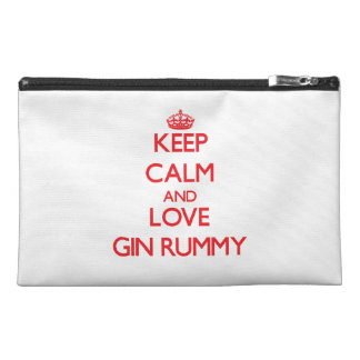 Keep calm and love Gin Rummy Travel Accessory Bags
