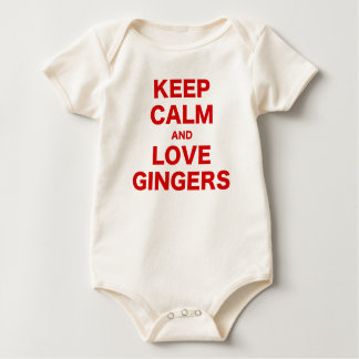 Keep Calm and Love Gingers Baby Bodysuit
