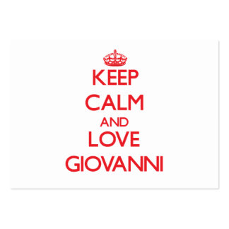 Keep Calm and Love Giovanni Pack Of Chubby Business Cards