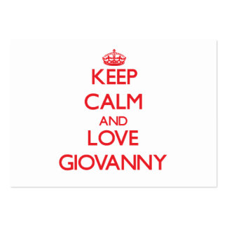 Keep Calm and Love Giovanny Pack Of Chubby Business Cards