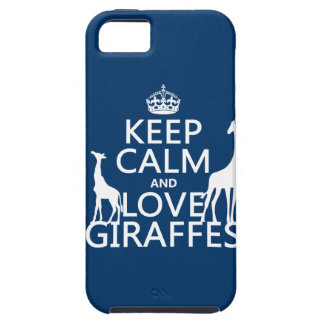 Keep Calm and Love Giraffes - all colours iPhone 5 Case