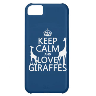 Keep Calm and Love Giraffes - all colours iPhone 5C Case