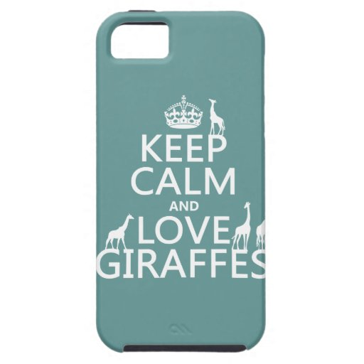 Keep Calm and Love Giraffes (any color) iPhone 5 Covers