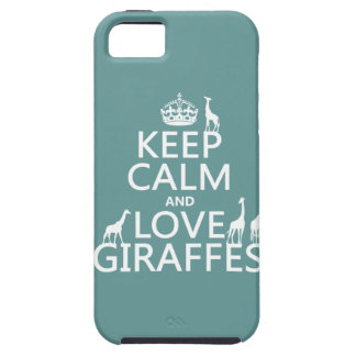 Keep Calm and Love Giraffes (any color) Tough iPhone 5 Case