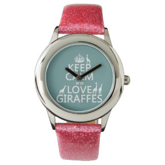 Keep Calm and Love Giraffes (any color) Watch