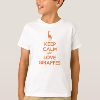 Keep Calm and Love Giraffes (tangerine) T-Shirt