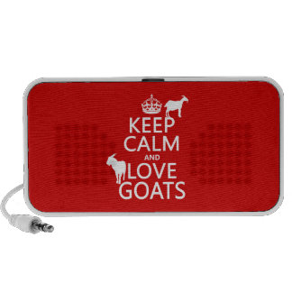 Keep Calm and Love Goats any background color iPhone Speakers
