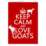 Keep Calm and Love Goats (any background colour)