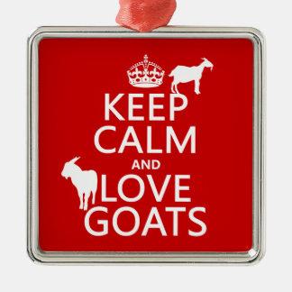 Keep Calm and Love Goats Christmas Ornament