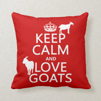 Keep Calm and Love Goats Cushion