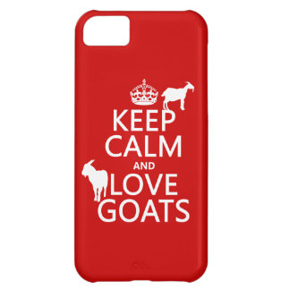 Keep Calm and Love Goats iPhone 5C Case