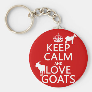 Keep Calm and Love Goats Key Ring
