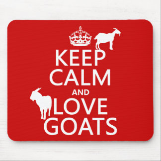 Keep Calm and Love Goats Mouse Mat