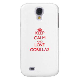 Keep calm and love Gorillas Samsung Galaxy S4 Case