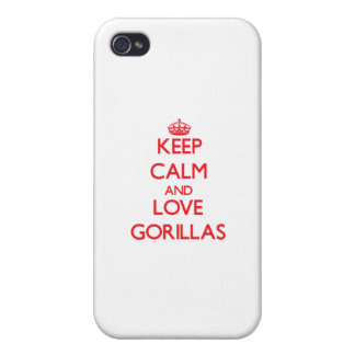 Keep calm and love Gorillas iPhone 4/4S Covers