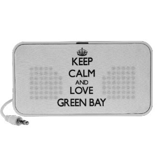Keep Calm and love Green Bay Mp3 Speakers