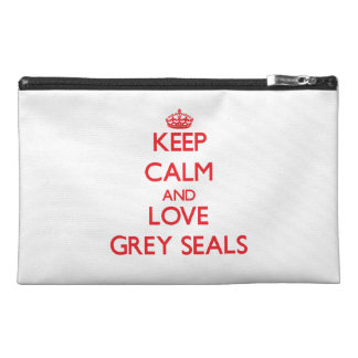 Keep calm and love Grey Seals Travel Accessories Bag