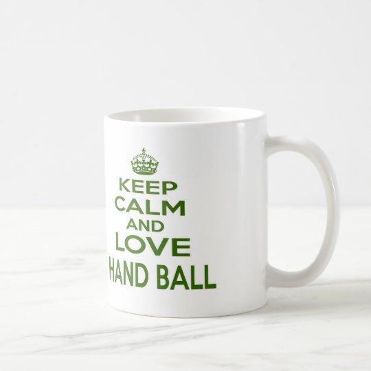 Keep Calm And Love Hand Ball Coffee Mug