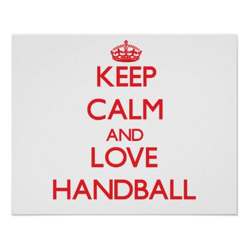 Keep calm and love Handball Print
