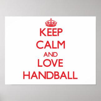 Keep calm and love Handball Print