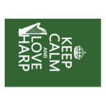 Keep Calm and Love Harp (any background colour)