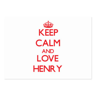 Keep calm and love Henry Business Card Templates