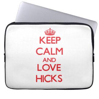 Keep calm and love Hicks Laptop Computer Sleeve