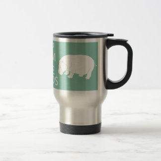 Keep Calm and Love Hippos Print Hippopotamus Travel Mug
