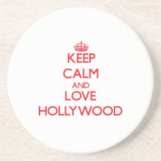Keep Calm and Love Hollywood Drink Coaster