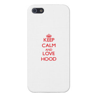 Keep calm and love Hood Cover For iPhone 5/5S