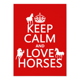 Keep Calm and Love Horses - all colors Card