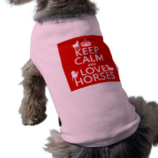 Keep Calm and Love Horses - all colors Shirt