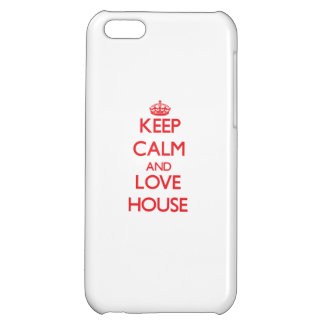 Keep calm and love House iPhone 5C Covers