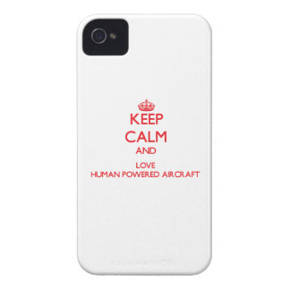Keep calm and love Human Powered Aircraft Case-Mate iPhone 4 Cases