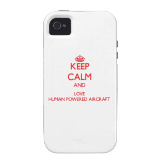 Keep calm and love Human Powered Aircraft iPhone 4/4S Cases