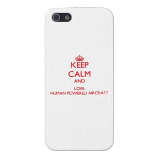 Keep calm and love Human Powered Aircraft iPhone 5 Cases