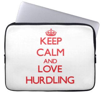Keep calm and love Hurdling Computer Sleeve